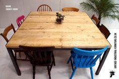 Vintage Industrial Meeting Table