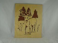 Whitetail Deer / Buck Scroll Saw Wall Art Decor Handmade From 8 x 10 Birch Craft Plywood @kevskrafts #bmecountdown