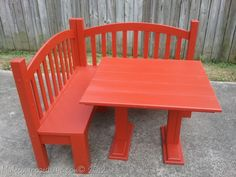 My Repurposed Life-Kid's Corner Bench, could be made with an old crib....hmm.....