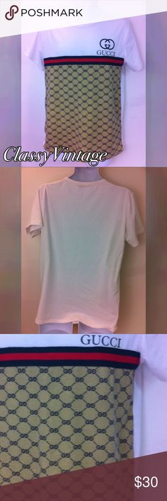 Men's Gucci Tee Gently loved Tee. No rips tears or stains. Men's size XL  it's a tight fitting tee. Gucci Shirts Tees - Short Sleeve