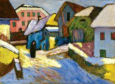 Snow and Sun, 1911 - by Gabriele Münter (1877– 1962), German