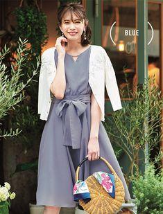 宮田聡子 Apuweiser-riche Fashion 2018 Casual, Modest Fashion, Wardrobe Basics, Office Outfits, Japanese Fashion, Rattan, Cute Dresses, Wrap Dress, Feminine
