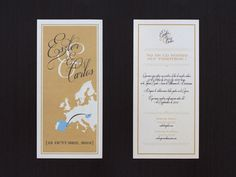 Wedding Invitation // Eszter & Carlos by Doctor Zamenhof, via Behance