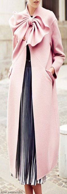 Pastel Pink Coat • Street CHIC • ❤️ Curated by Babz™ ✿ιиѕριяαтισи❀ #abbigliamento