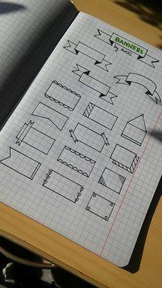 Tipos de desenhos para organizar seu caderno