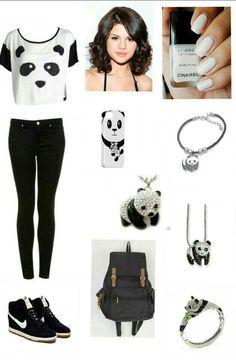 Back to school Back To School, Panda, Polyvore, Image, Fashion, Moda, Fashion Styles, Pandas, Fashion Illustrations