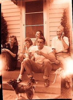 1950S Suburbia   1950s Family Sitting On Steps Suburbia vintage Photo   Flickr - Photo ...