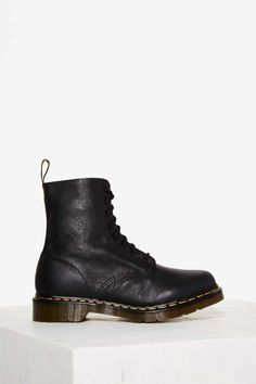 Dr. Martens Pascal 8-Eye Leather Boot - Black | Shop Shoes at Nasty Gal!