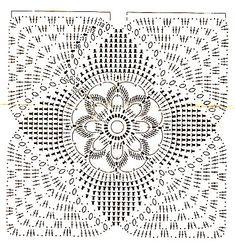Crochet Bedspread Patterns Part 8 - Beautiful Crochet Patterns and Knitting Patterns Crochet Bedspread Pattern, Crochet Motifs, Crochet Stitches Patterns, Crochet Chart, Crochet Squares, Crochet Doilies, Stitch Patterns, Crochet Pillow, Plaid Au Crochet