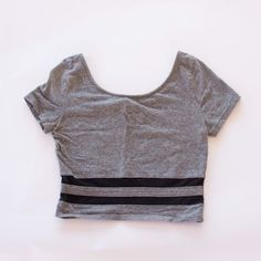 f6b30c9128c Striped Mesh Crop Top by Divided H&M Mesh Crop Top, Grey Crop Top, Divide
