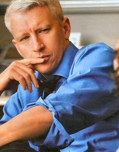 Anderson Cooper is a silver fox, and his eyes are a national treasure.