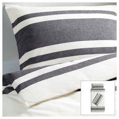 BJÖRNLOKA Quilt cover and 2 pillowcases - 150x200/50x80 cm - IKEA This bed linen (also available in red) looks really smart for a teen room. Good for hamptons, modern or beachy interiors