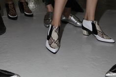 The prints. The metallics. The #shoes. #NYFW (Photo: Elizabeth Lippman for The New York Times)