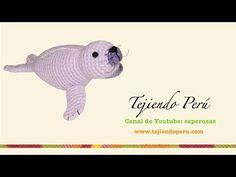 Foca amigurumi tejida a crochet (amigurumi seal) Parte 1 Baby Seal, Amigurumi Tutorial, Crochet Videos, Knit Crochet, Dinosaur Stuffed Animal, Diy Projects, Make It Yourself, Youtube, Knitting