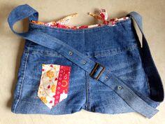 Jeanstasche — Crowdfunding bei wemakeit Flower Power, Pants, Fashion, Bags, Trouser Pants, Moda, Fashion Styles, Women's Pants