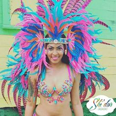 Exclusive Shi'dor Backpack, Headpiece and Wire Bra  designed for Dominica Carnival 2016!! @k_t_mac you look gorgeous!!! Keep the photos coming ladies and gentleman! Mention @shidor_official or hashtag #shidor for any of our exclusive pieces spotted at this year's recent festivals! #Dominicacarnival2016 #DominicaCarnival