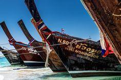 Boats in Krabi Thailand - null