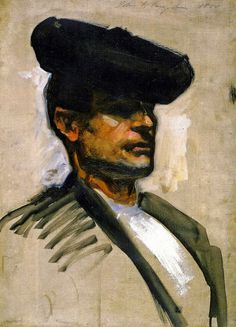 Head of a Spanish Musician, 1880 by John Singer Sargent (American 1866 - 1925)