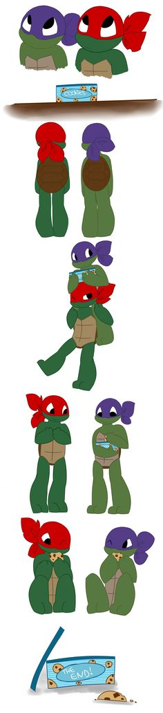 Turtles tots : Cookies brothers by LittleChaCha.deviantart.com on @deviantART