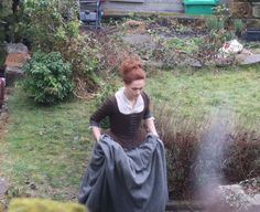 Here's our beautiful Brianna, filming in Culross today!  #BriannaFraser  #Outlander