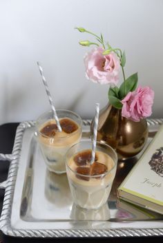 Coffee ice cubes + your milk of choice: http://www.stylemepretty.com/living/2016/06/16/the-fancy-upgrade-your-summer-cocktails-are-begging-for/