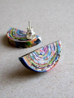 recycled paper earri
