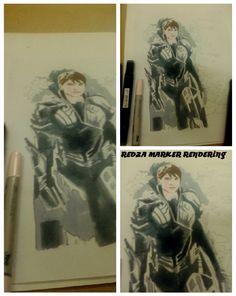 man of steel marker rendering