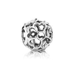 Openwork primrose silver charm