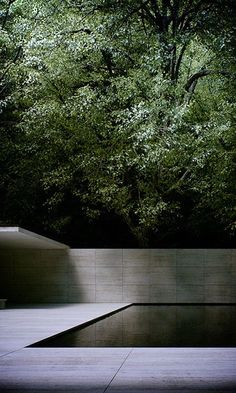 Pool, Mies van der Rohe, travertine stone