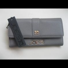 """Selling this """"Joe's Jeans gray faux leather salute snap wallet"""" in my Poshmark closet! My username is: crazyposh. #shopmycloset #poshmark #fashion #shopping #style #forsale #Joe's Jeans #Clutches & Wallets"""