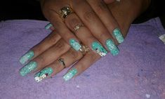 Turquoise, Nails, Beauty, Jewelry, Fingernail Designs, Finger Nails, Jewlery, Ongles, Bijoux