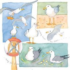 Emma Ball Coastal Scenes Greetings Card Seagulls