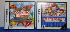 Nintendo DS COOKING MAMA & COOKING MAMA DINNER WITH FRIENDS  2006  Rated E  TA11 #Nintendo
