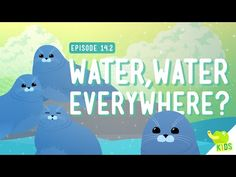 Water Water Everywhere: Crash Course Kids #14.2 by thecrashcourse: So you know about Freshwater and Saltwater now and you know that there's not that much Freshwater for us (and other life) to get to. So how do different animals deal with different amounts of water where they live? In this episode of Crash Course Kids, Sabrina talks about the adorable Nerpa and how they deal with rough conditions to live in Freshwater! Support The Crash Course o