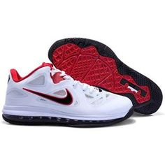 the best attitude 6797e b8d76 Nike Lebron 9 Low USA 2012 Olympic White Black Red Sport Red Basketball  Shoes