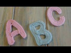Crochet Tutorial for Each Letter in Alphabet - Design Peak Crochet Alphabet Letters, Crochet Letters Pattern, Alphabet Design, Letter Patterns, Crochet Motif, Crochet Stitches, Crochet Flowers, Knit Crochet, Crochet Daisy
