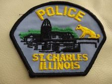 ST. CHARLES ILLINOIS  POLICE  PATCH ..