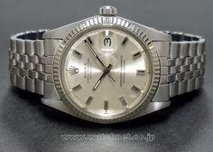 60's ROLEX OYSTER PERPETUAL DATEJUST R.1601 Vintage Rolex, Vintage Watches, Oyster Perpetual Datejust, Rolex Datejust, Bracelets, Rolex Watches, Bracelet Watch, Clocks, Clock Art