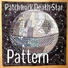 Patchwork Death Star Mini Quilt - wonder if the hubby would like a Death Star quilt? ;)