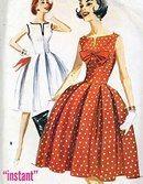 Dress Pattern Bust 32 Uncut McCalls 5845 by CynicalGirl Dress Making Patterns, Vintage Dress Patterns, Clothing Patterns, 1950s Style, Moda Vintage, Vintage Mode, Vintage Outfits, Vintage Dresses, 1950s Fashion