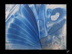 Feeling Blue, Encaustic Art by JacquelinePopArt