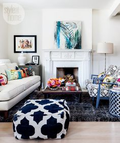 Colourful living room {PHOTO: Donna Griffith}