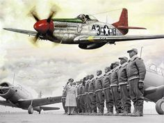 The Tuskegee Airmen were the first black Airmen to pioneer an integrated Air Force and also fought bravely in the forefront of World War II. These warriors will join the Warriors of the North at the Air Show. (Photo illustration by Clay Kraby)