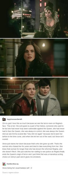 Regina, Emma, and Snow's different reactions to the Evil Queen in S5 finale