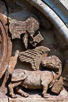 Detail - John and Luke, Église Saint-Pierre-ès-Liens, Goujounac (Lot) Photo by Dennis Aubrey