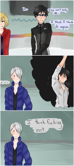 Lol, acadentaly posted this to Hetalia, Yuri on ice