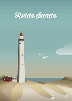 Hvide Sande - str. A3 plakat fra Jeanet kristensen