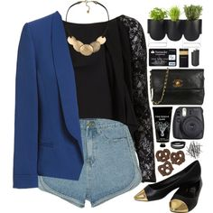A fashion look from March 2015 featuring House of Deréon blouses, Zara blazers and Bardot flats. Browse and shop related looks.