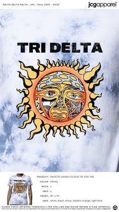 Delta Delta Delta Fall Shirt | Sorority Fall Shirt | Greek Fall Shirt #deltadeltadelta #tridelta #tridelt #ddd #Fall #Shirt #sunshine Fall Designs, Custom Design Shirts, Tri Delta, Sorority And Fraternity, Fall Shirts, Cursed Child Book, Autumn Theme, Shirt Ideas, Screen Printing