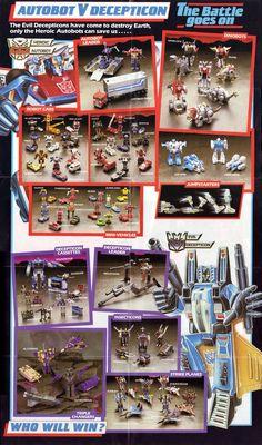 Transformers G1 1985 Catalog